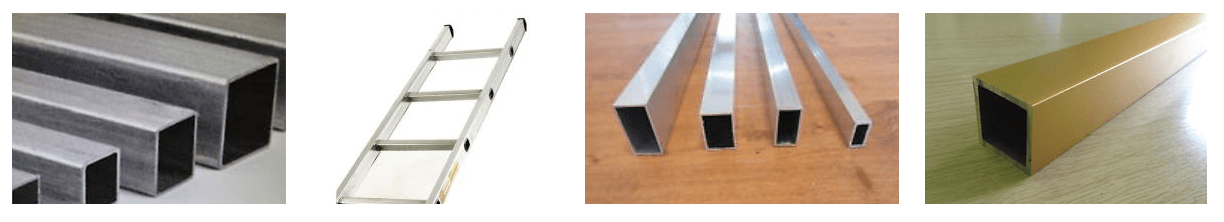 Aluminium square box section and aluminium rectangular box section suppliers with sizes.