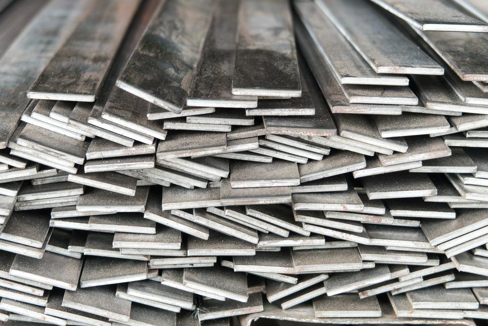 Black flat steel strip 75mm x 8mm x 250 mm