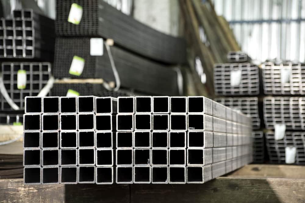 1 metre Long Stainless Steel Box   10 mm sq x 1 mm wall type 304 DP